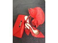 Wedding shoes bag fasinator