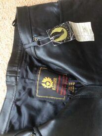 Ladies Belstaf 5 pocket leather jeans unworn with tags