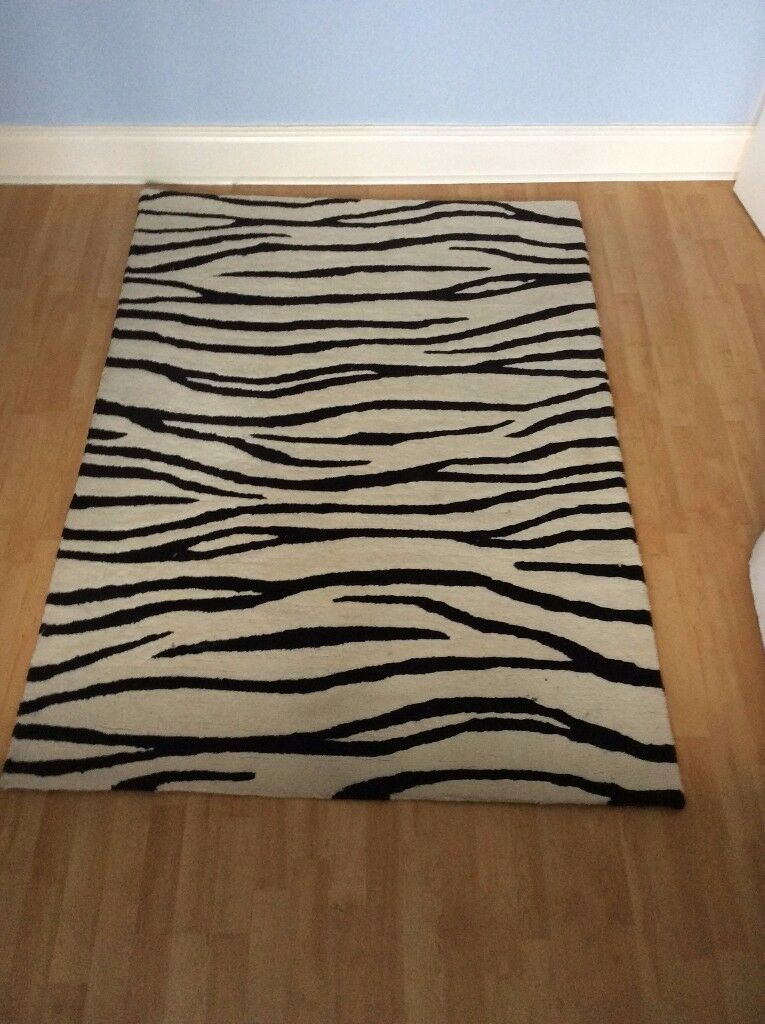 Contemporary Design Zebra Rug