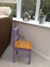 GLTC toddler girls wooden desk chair painted in lavender