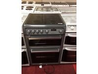 Silver hotpoint gas cooker three month guarantee