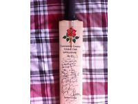 SIGNED Lancashire v Derbyshire cricket bat