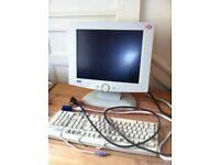 Computer Screen LCD Monitor & FREE Keyboard