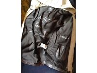 🎆River Island Leather Jacket.Urban street Motorbike/Scooter. Zipped Detachable Hood