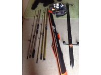 Beach rods plus kit and reels