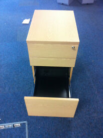 office pedestal filing cabinet with 3 drawers and keys