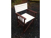 Foldaway directors chair in great condition