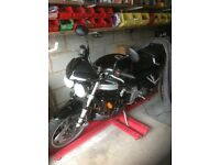 Triumph speedtriple 955i 2002 in black