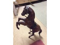 Leather effect ornamental horse