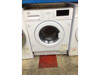 Beko intergrated washing machine. 7kg 1600spin A+++ new/graded 12 month Gtee