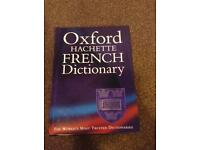 French dictionary and grammar book