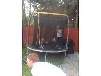 8ft trampoline good condition has netting