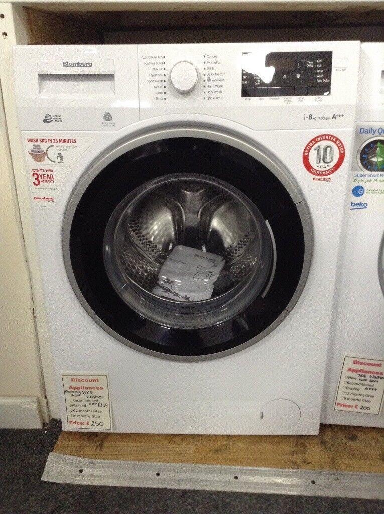Blomberg 8kg 1400 spin washing machine. RRP £349 12 month Gtee