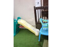 Free kids slide plus table and chairs