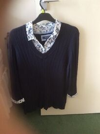 Shirt under jumper style