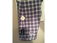 46R Stromberg Golf Trousers - Funky Lilac Check - BNWT