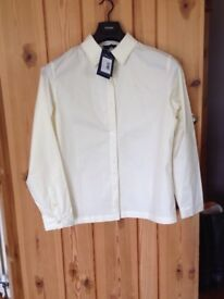 Shires vanilla riding show shirt - large (new with tags)