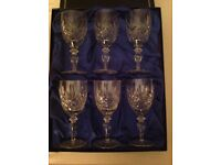 6 Edinburgh International crystal sherry glasses