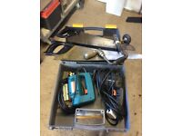 Black & Decker drill & jig saw plus hand drill and hand saws