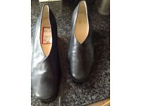 "Brand new Ladies black leather shoes size 3 - ""K"" shoes"