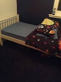 Childs single bed with mattress