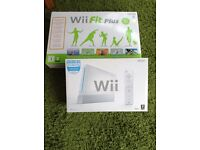 Nintendo wii console plus wi fit plus some games