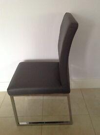 Dwell grey loop leg dining chairs