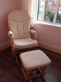 Dutailier Glider Nursing Chair and Footstool