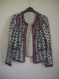 Ladies cotton jacket size 10 Monsoon