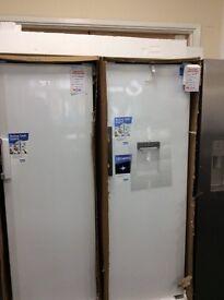 Tall Beko fridge with drinks dispenser new in package 12 mth gtee