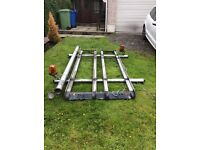 Ford transit alloy roof rack with pipe holder ex bt