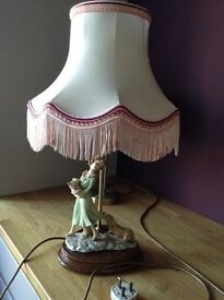 Aristocraft lamp girl pulling dog with shade
