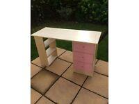 Children's Desk - Pink and Pine