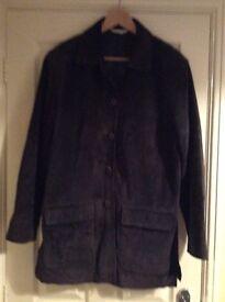 Suade three quarter length jacket