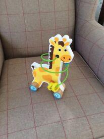 Giraffe Spiral Bead Toy