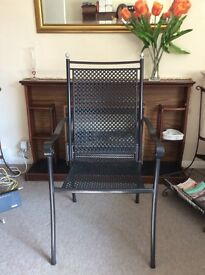Wrought iron chair for hallway, lounge or patio.