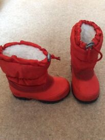 Child's red size 6 snow boots