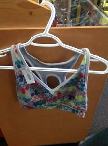 Old Navy Patterned Sports Bra -women's Small- grey (sku: Z15082)