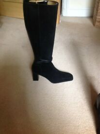 Bally leather and suede black knee high boots brand new ideal for winter