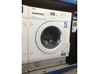 Beko intergrated washing machine. 8kg 1400soin. £239. New/graded 12 month Gtee