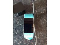 Fitbit charge HR fitness tracker watch in teal size small fit bit
