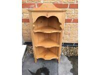 Pine shelves ideal for kitchen or bathroom