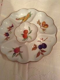 Royal Worcester Evesham dipping dish