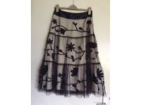 Coast evening skirt with heavy embroidery. Size 10