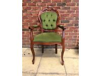 Victorian style dining armchair