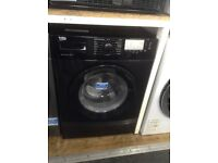 Beko 9kg 1400spin washing machine. Black £199. New/graded 12 month Gtee