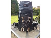 Macpac Ascent 70l. Rucksack for sale. Ideal DofE or World Challenge expedition bag.