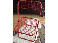 Vintage Italian folding metal mesh chair, Talin design