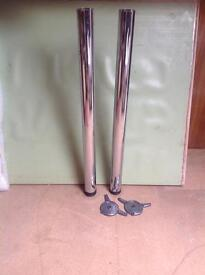 Two Chrome Support Legs