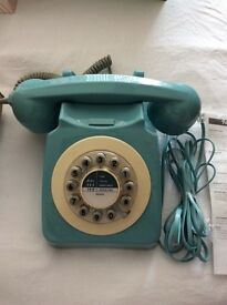 Phone - nineteen sixties design classic style in French blue colour